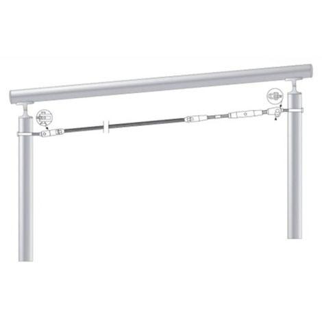 kit de pose inox 316 pour câble inox Ø 6 mm montage orientable entre tubes