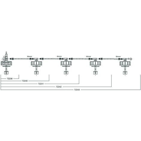 Kit de preleve. pour tripple robinetterie Reservoir Dehoust PE etTrio 1000- 2000 l avec tube 8x1x755mm