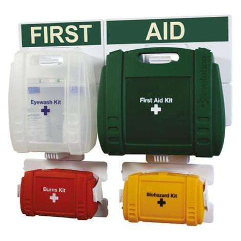 Kit de premiers secours RS PRO pour 50 personnes, Type Etui, Mural, largeur 350mm