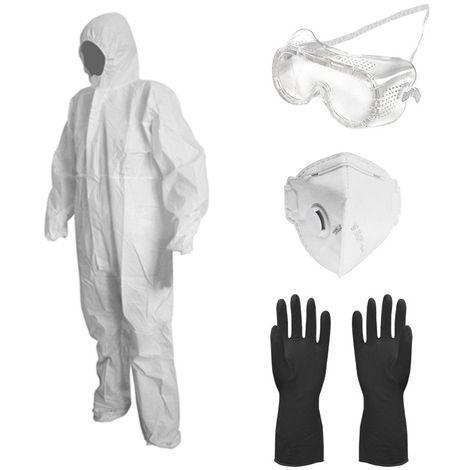 Kit de protection pulverisation VITO jardin et bricolage combi taille L + gants + lunettes+ masque