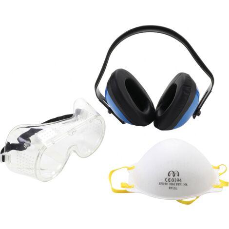 Kit de protections de travail   casque - masque - lunette