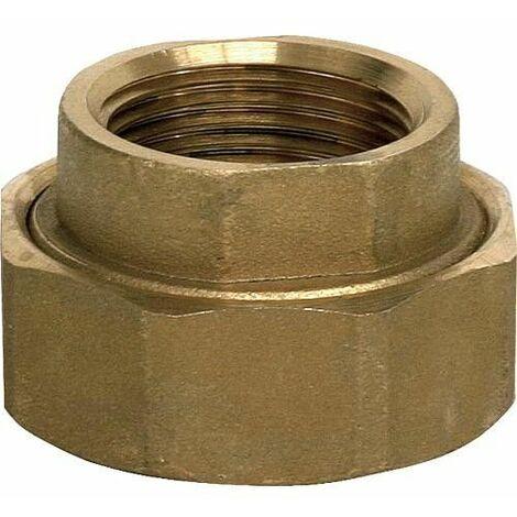 Kit de raccord laiton,nickele 1 Ecrou-raccord,joint et insert type 11/2