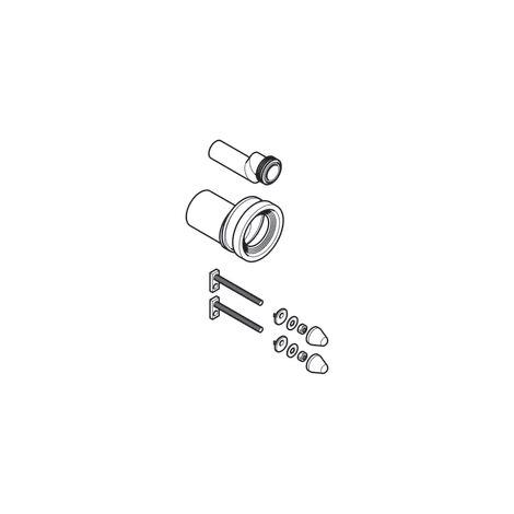 Kit de raccordement Geberit pour WC suspendu, avec matériel de fixation, excentré Ø90mm - Geberit