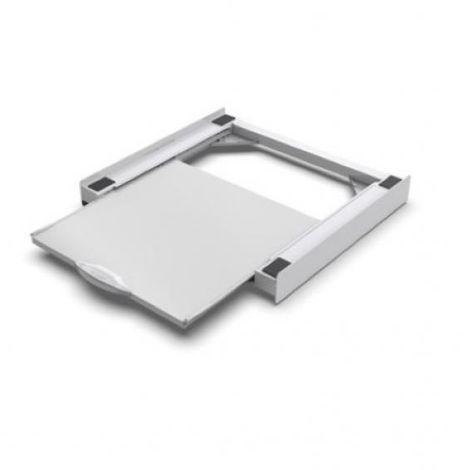 Kit de raccordement lave-linge/sèche-linge avec tablette extractible 656105 meliconi. ***kit de raccordement de tour entre laveuse/sécheuse avec tablette extractible blanche