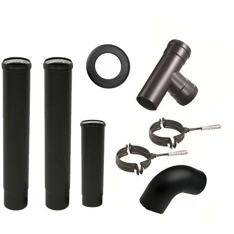 Kit de raccordement pour poêles à granulés diamètre 80 mm