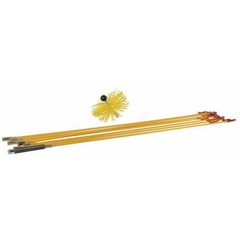 Kit de ramonage avec hérisson rilsan