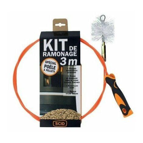 Kit de ramonage spécial poêle à pellets 3