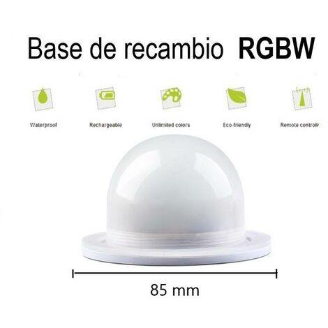 Kit de recambio para bola luminosa exterior recargable RGBW 3W