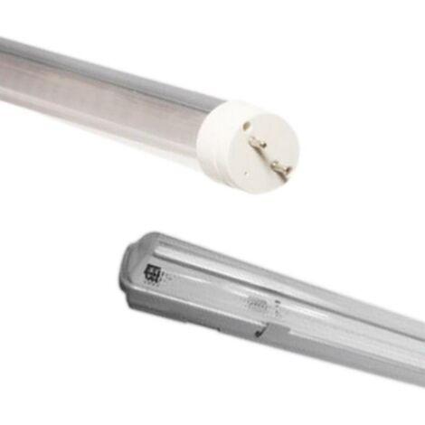 Kit de Réglette LED étanche + Tube Néon LED 60cm T8 10W