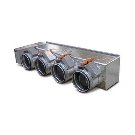 Kit de régulation 4 registres motorisés sorties Ø 200mm reversible avec sondes Plenum Zone Control 200 S4 ATLANTIC 875017