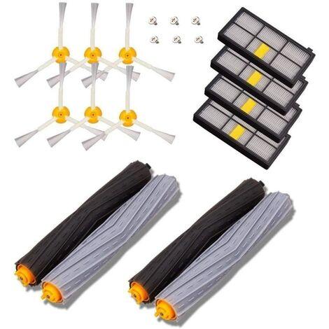 Kit de Remplacement Brosses Pièces de Rechange Compatible avec iRobot Roomba série 800 860 870 880 890 et 900 960 980 - Paquet de 14 PCS.