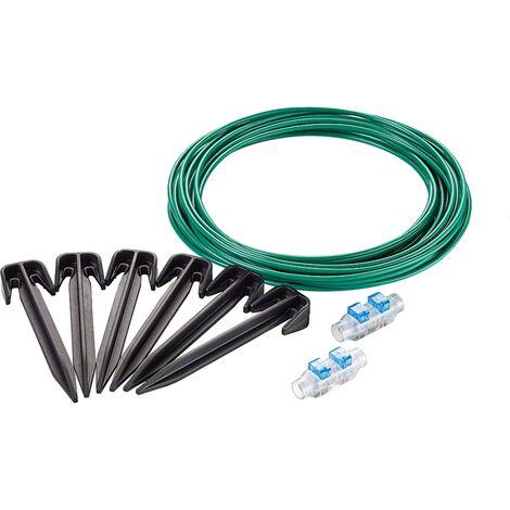 Kit de réparation Bosch - Accessoire pour tondeuse Indego (cble 10m, 20 cavaliers, 2 connecteurs de cbles)