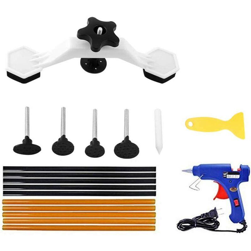 Kit de réparation de carrosserie automobile,kit de réparation de bosses sans peinture avec pistolet à colle,10 bâtons de colle (7 x 270