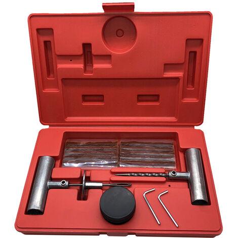 Kit de reparation de pneus universel de 35 pieces pour reparer les crevaisons et boucher les tetes plates