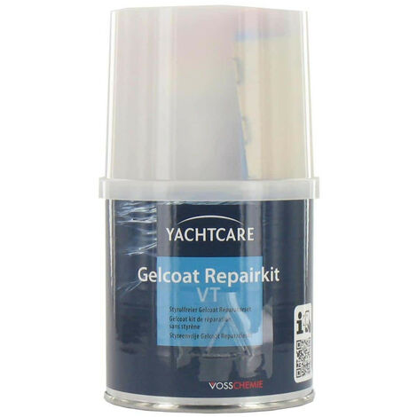 Kit de réparation gelcoat Yachtcare spatulable blanc RAL 9010
