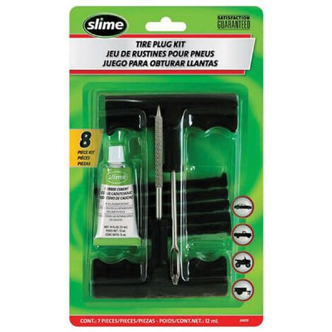 Kit de reparation pneus - 8 pieces - 17ml Slime