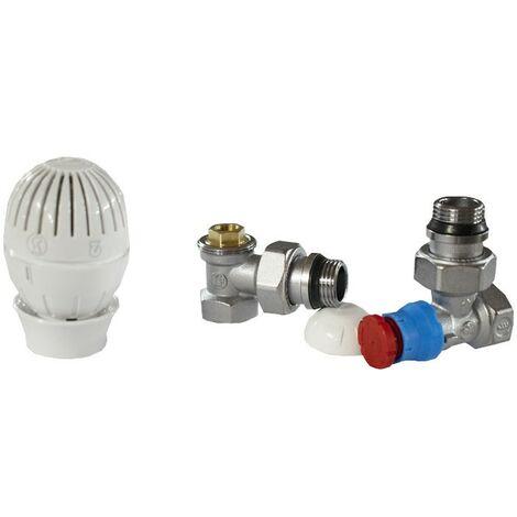Kit de requalification d'énergie de radiateur, avec valve et support pour raccordement de tuyau en fer GIACOMINI R470FX