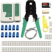 Kit De Reseau Local Ethernet, Sertisseur De Cable, Denudeur De Fil A Sertir, Testeur De Cable Rj45