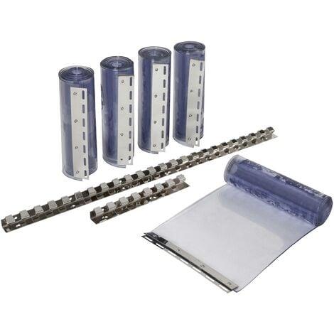 """main image of """"Kit de rideaux à bandes PVC transparentes - 30 x 225 cm"""""""