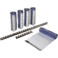 Kit de rideaux à lanières PVC transparentes - 30 x 225 cm