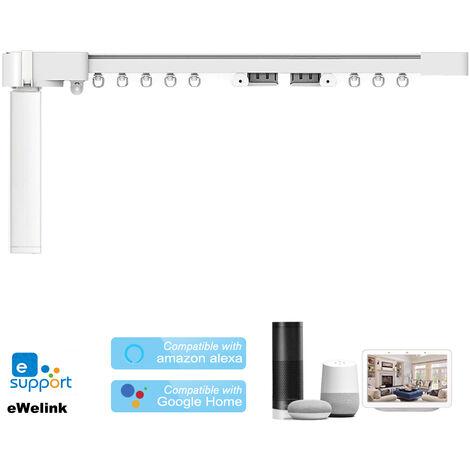 Kit de riel de cortina motorizado eWeLink WIFI, motor de persiana de cortina inteligente