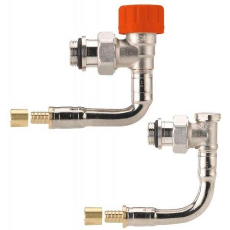 Kit de robinetterie thermostatique hydrocablé 1/2 Ø12 M30 à Kv réglable - équerre court à glissement C565PG