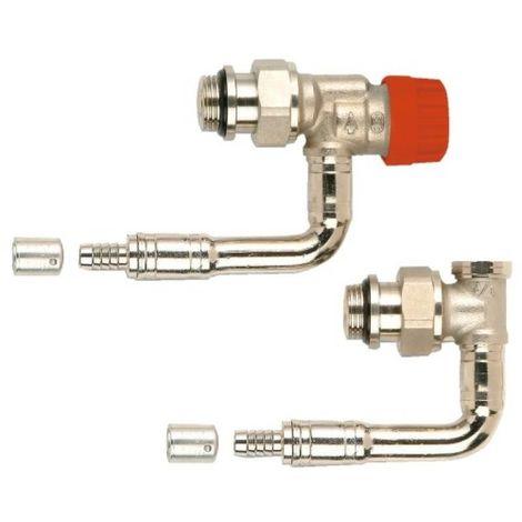 Kit de robinetterie thermostatique hydrocablé 1/2 Ø16 M30 à Kv réglable - équerre inversé long à sertir 568PS