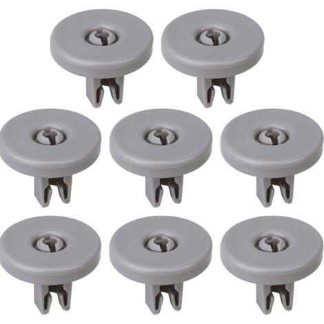 Kit de ruedas para cesto inferior de lavavajillas (8 uds) Gris