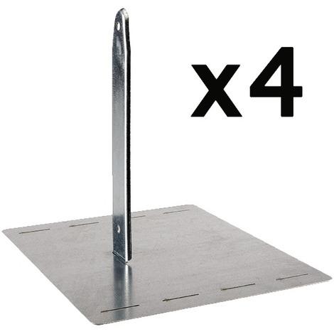 Kit de scellement pour portique bois ou métal Amca - Vendu par 4 - Gris