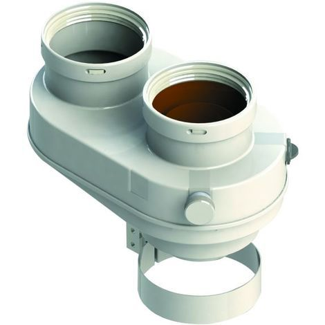 Kit de séparateur de tuyau coaxial 60 100 à 80 chaudière à condensation chauffe-eau fumée du séparateur d'air