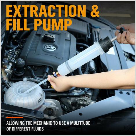 Kit de seringue d'extraction et de remplissage de fluide automobile Changeur d'huile de pompe à vide 200cc