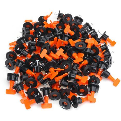 Kit de sistema de nivelación de baldosas de 100 piezas Herramienta de piso de pared con espaciador de baldosas nivelador