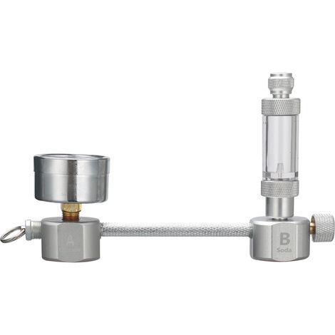 Kit de sistema generador de CO2 para acuarios, con contador de burbujas