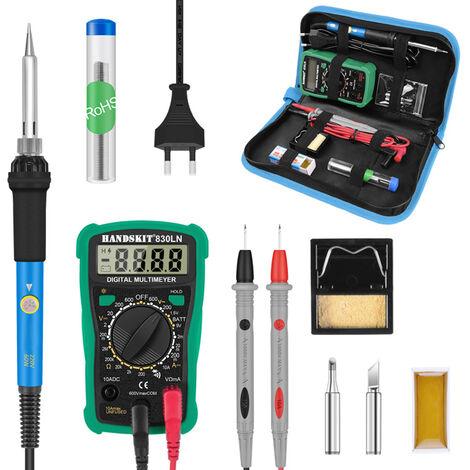 Kit de soldador de temperatura ajustable digital de 60 W a 200-450 ¡æ, juego simple de herramientas de soldadura profesional