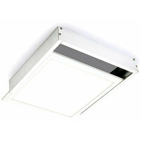 Kit de superficie de Panel 60x60 Blanco Blanco | IluminaShop