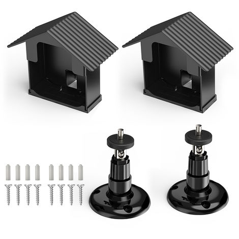 Kit De Support De Fixation Murale, Pour Camera Blink Xt, Reglable A 360 Degres, Noir, 2 Pcs