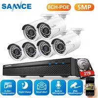 Kit de surveillance SANNCE 4CH 1080P PoE NVR HD 4 Système de caméra de vision nocturne 1080P 2.0 mégapixels intérieur / extérieur