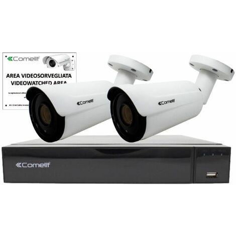 KIT de Surveillance vidéo Comelit IP NVR 8 canaux et 2 balle IPKIT008S02PA