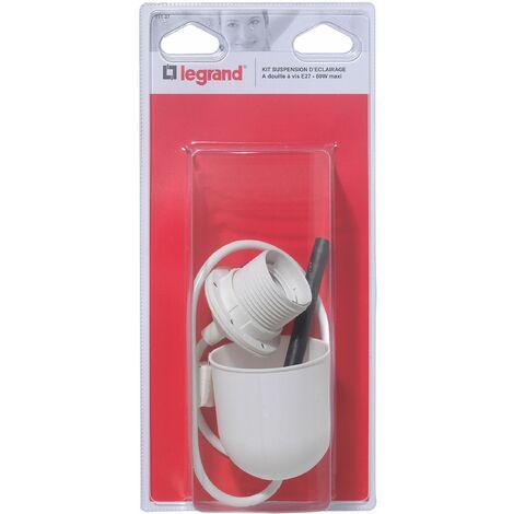 Kit de suspension douille E27 + 1 câble blanc longueur 60 cm + fiche DCL