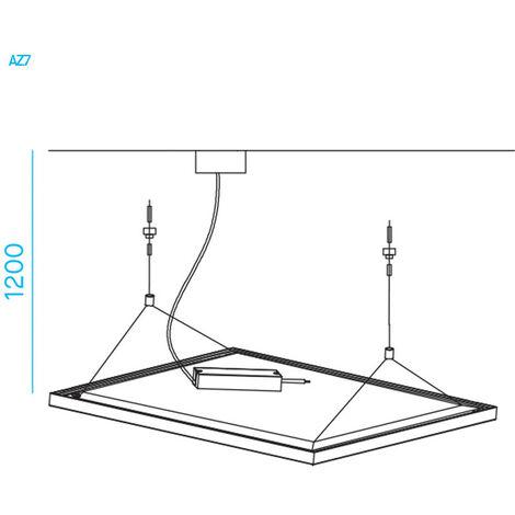 Kit de suspension et Noble, de panneaux de Led de la série LPZ66 AZ7