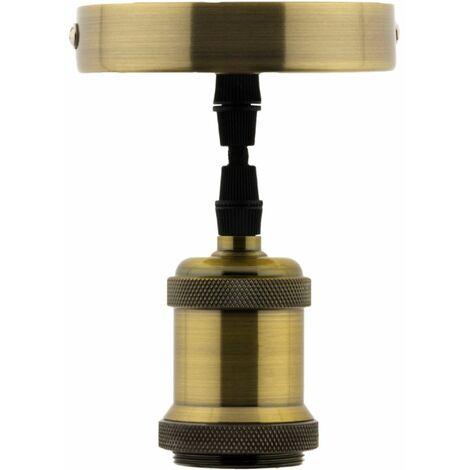 Kit de suspension luminaire métal avec cordon textile Cuivre