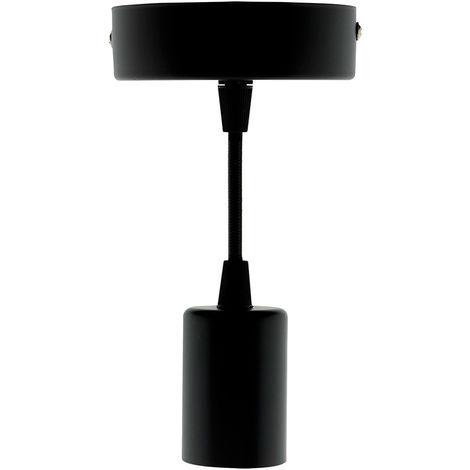 Kit de suspension luminaire métal avec cordon textile Noir