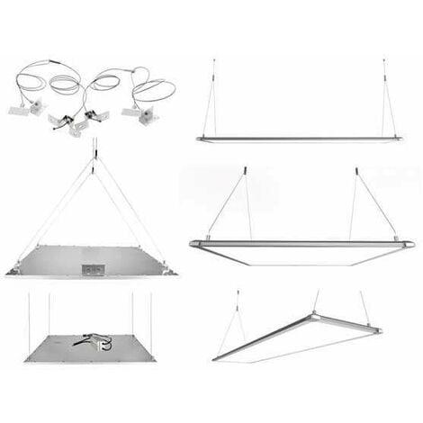 Kit de suspension pour dalle LED 60X60CM - 120X30CM