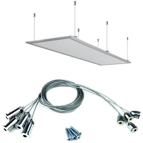 Kit de suspension pour dalle LED