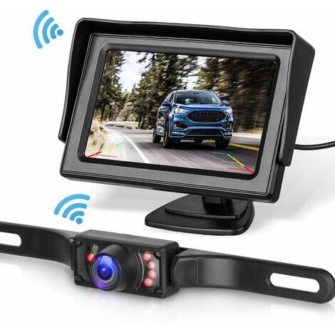 Kit de système de caméra de recul sans fil pour voiture / camion / fourgonnette / pick-up / camping-car 4.3 système de recul de vue arrière de moniteur
