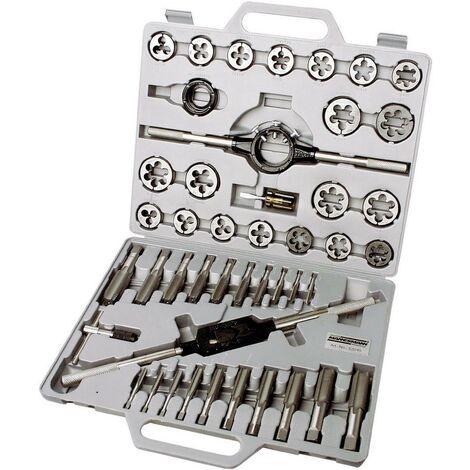 Kit de taraudage Brüder Mannesmann M53245 45 pièces métrique M6, M8, M10, M12, M14, M16, M18, M20, M22, M24 1 set C97202