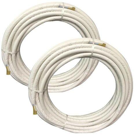 Kit de Tecnogas FASTPIPE tuberías, equipos de aire acondicionado, de 6 metros de 1/4 - 1/2 000011075V2