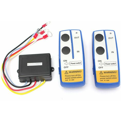 Kit de télécommande de treuil sans fil à double combiné pour camion Jeep Atv Suv contr?leur sans fil 12V de voiture