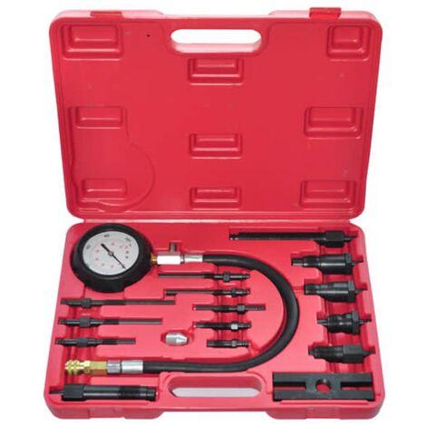 Kit de testeur de compression de moteur diesel 17 pcs