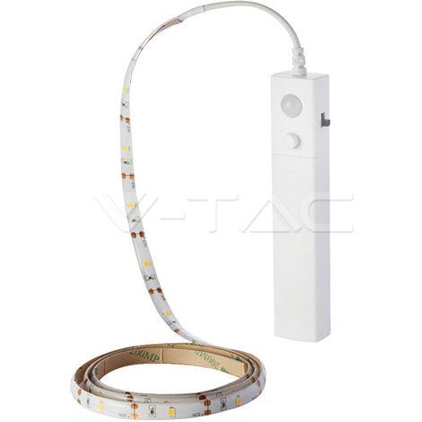 Kit de Tira led SMD2835 con sensor PIR 2.4W/m 6V IP20 1 metro